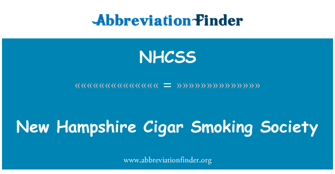 NHCSS: New Hampshire Cigar Smoking Society