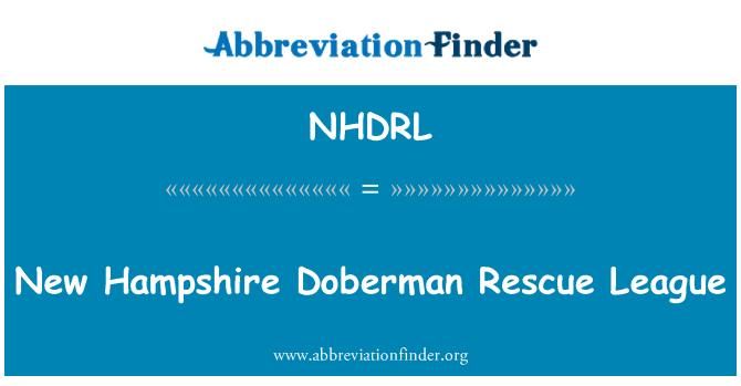 NHDRL: New Hampshire Doberman Rescue League