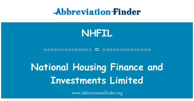 NHFIL: National Housing Finance and Investments Limited