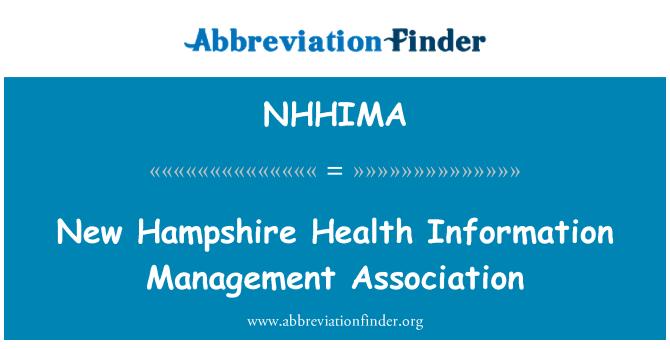 NHHIMA: New Hampshire Health Information Management Association