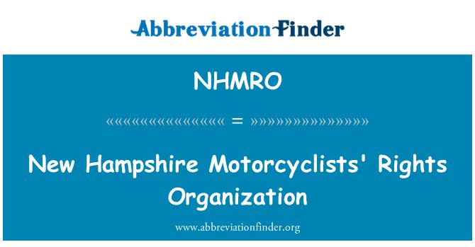 NHMRO: New Hampshire Motorcyclists' Rights Organization