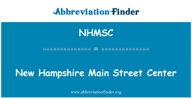 NHMSC: New Hampshire Main Street Center