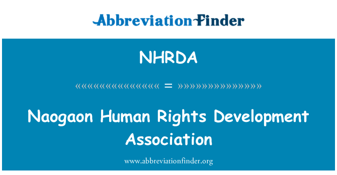 NHRDA: Naogaon Human Rights Development Association