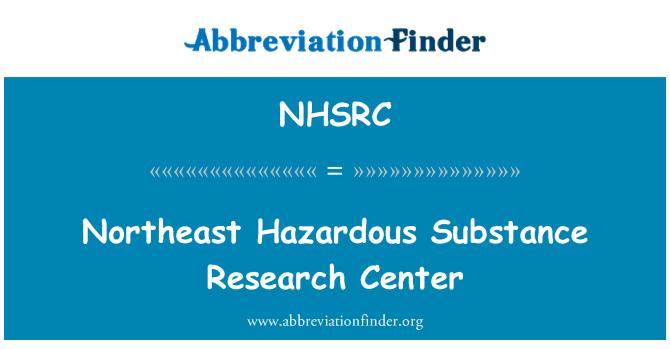 NHSRC: Northeast Hazardous Substance Research Center