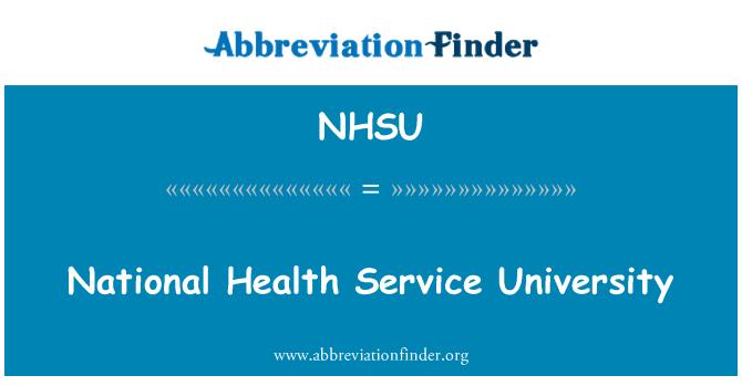 NHSU: National Health Service University