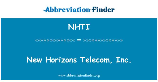 NHTI: New Horizons Telecom, Inc.
