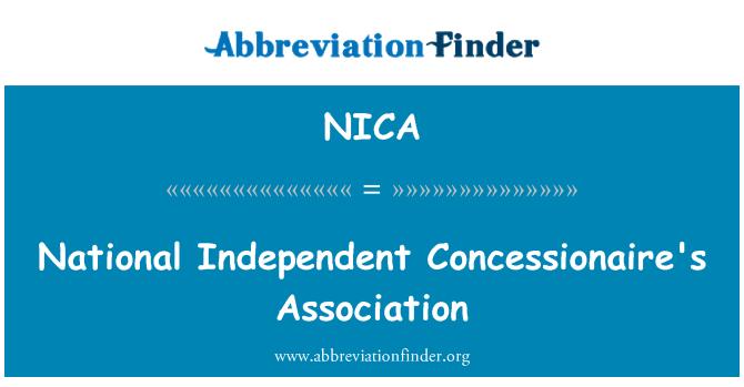 NICA: Kansallinen riippumaton toimiluvan haltijan ry