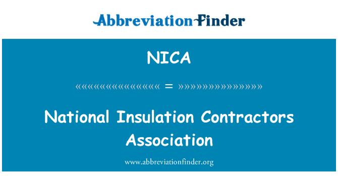 NICA: Asociación de contratistas de aislamiento nacional