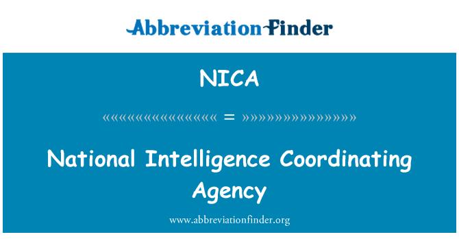 NICA: Nacionalinės žvalgybos koordinavimo agentūros