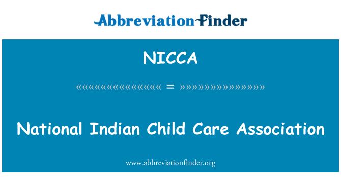NICCA: National Indian Child Care Association