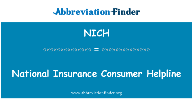 NICH: National Insurance Consumer Helpline