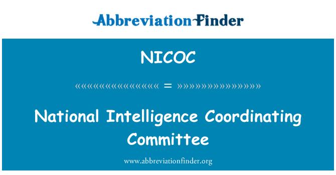 NICOC: National Intelligence Coordinating Committee