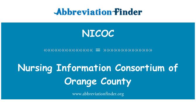 NICOC: Nursing Information Consortium of Orange County