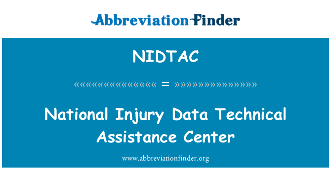 NIDTAC: National Injury Data Technical Assistance Center