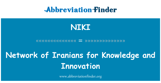 NIKI: Network of Iranians for Knowledge and Innovation