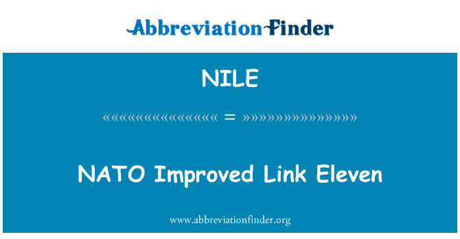 NILE: NATO Improved Link Eleven