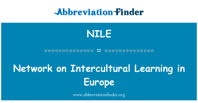 NILE: Network on Intercultural Learning in Europe