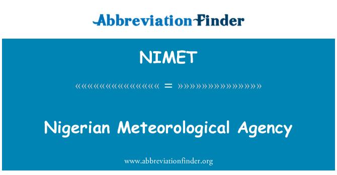 NIMET: Nigerian Meteorological Agency