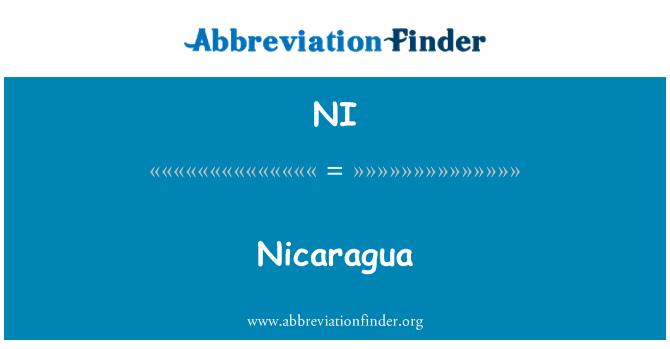 NI: Nicaragua