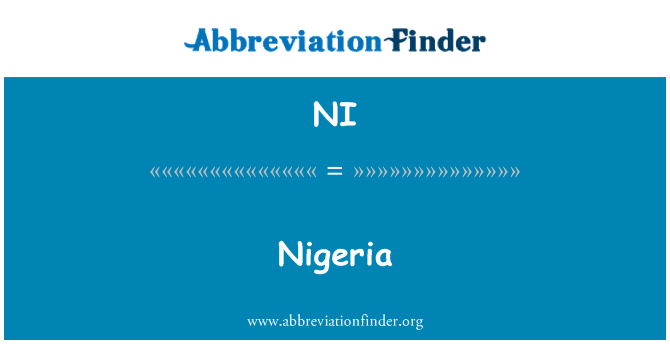 NI: Nigeria