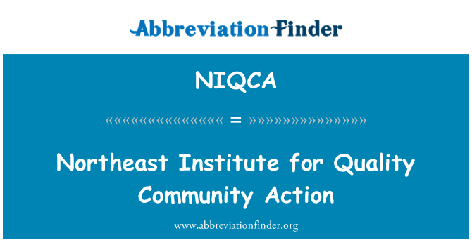 NIQCA: Northeast Institute for Quality Community Action