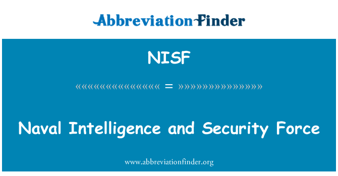 NISF: Naval Intelligence and Security Force
