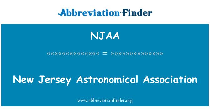 NJAA: Asociación astronómica de Nueva Jersey