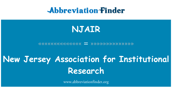 NJAIR: New Jersey Association for Institutional Research