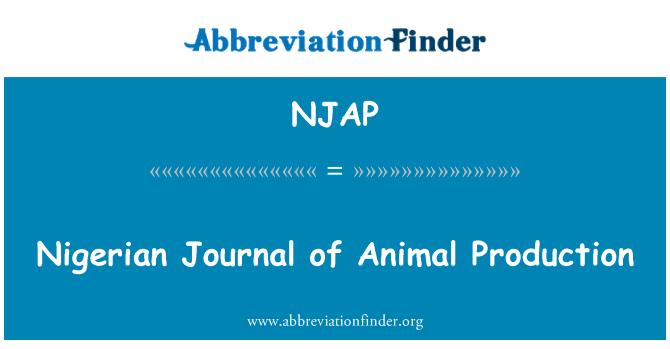 NJAP: Nigerian Journal of Animal Production