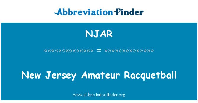 NJAR: New Jersey Amateur Racquetball