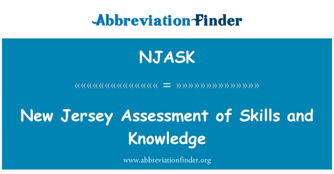 NJASK: New Jersey posouzení dovedností a znalostí