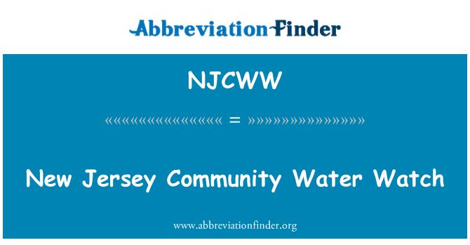 NJCWW: New Jersey Community Water Watch
