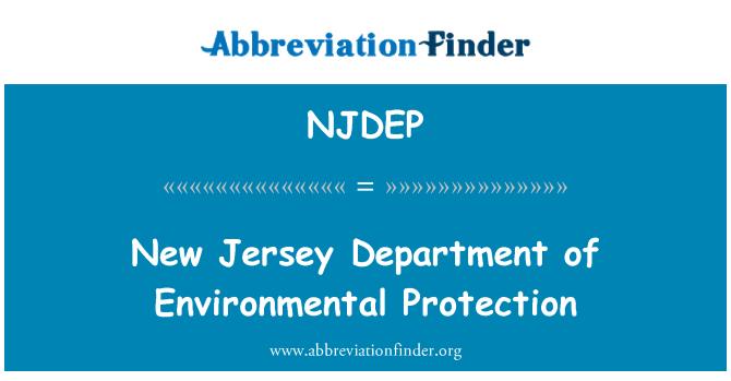 NJDEP: Yeni Jersey Bakanlığı Çevre koruma