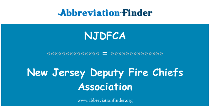 NJDFCA: New Jersey Deputy Fire Chiefs Association