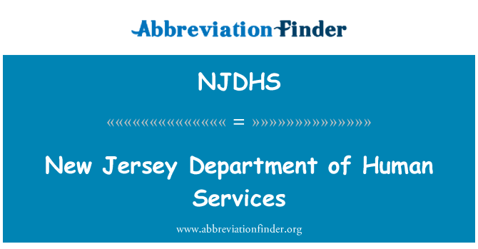 NJDHS: New Jersey Department of Human Services