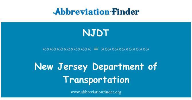 NJDT: New Jersey Department of Transportation