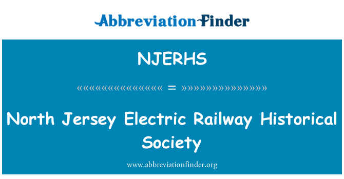NJERHS: North Jersey Electric Railway Historical Society