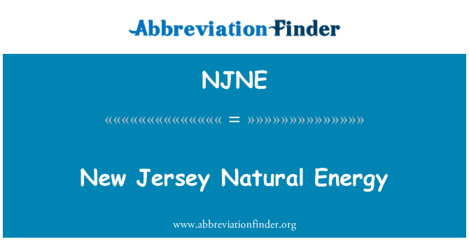 NJNE: New Jersey Natural Energy