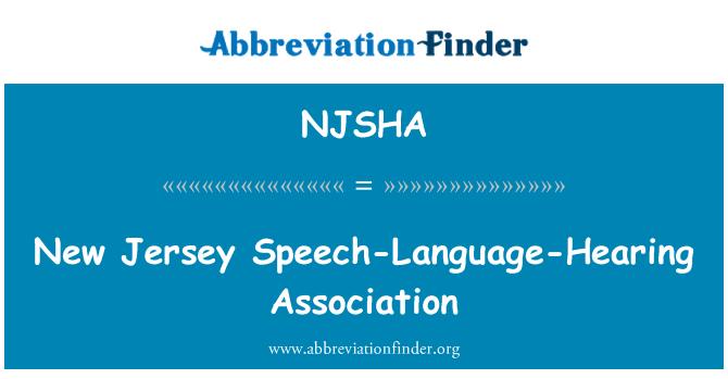 NJSHA: New Jersey Speech-Language-Hearing Association