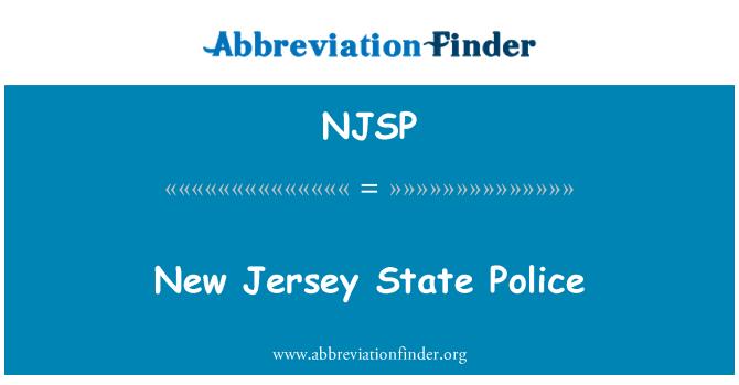 NJSP: New Jersey State Police