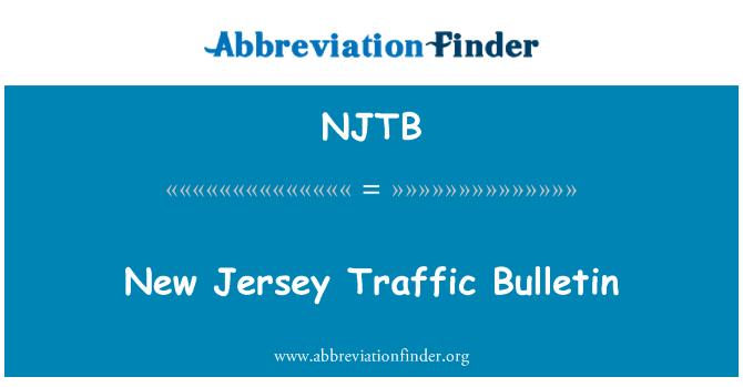 NJTB: New Jersey Traffic Bulletin
