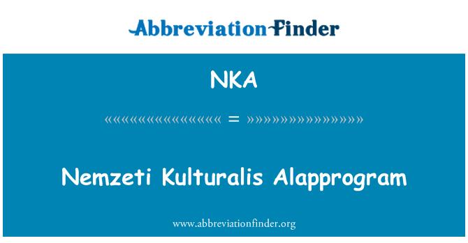 NKA: Nemzeti Kulturalis Alapprogram