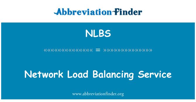NLBS: Network Load Balancing Service