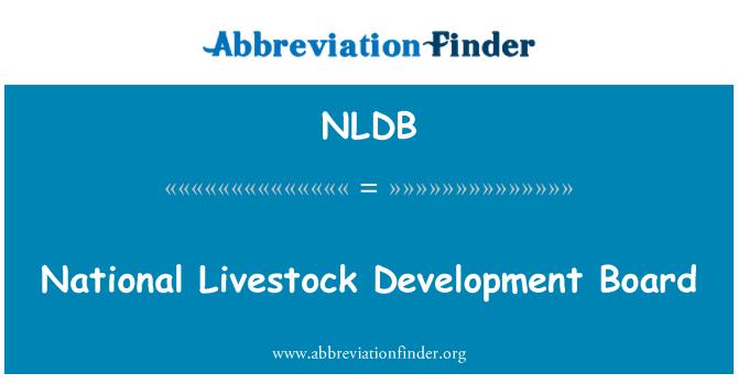 NLDB: National Livestock Development Board
