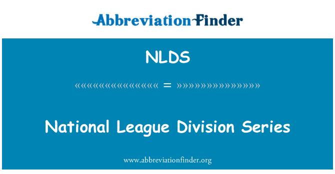 NLDS: Serie de división de la Liga Nacional