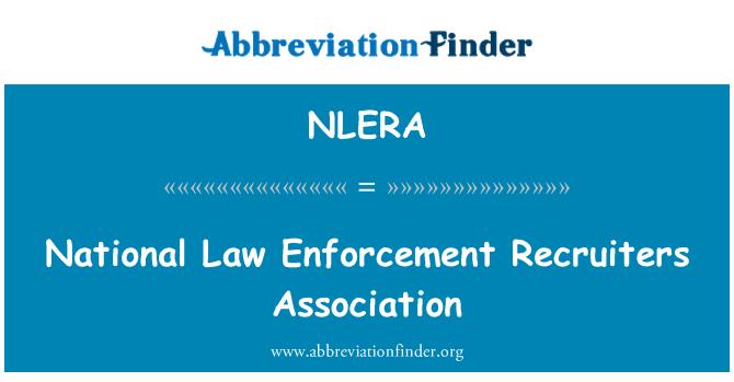 NLERA: National Law Enforcement Recruiters Association