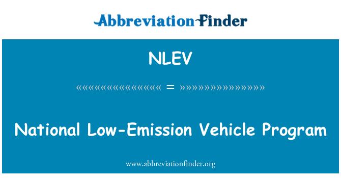 NLEV: National Low-Emission Vehicle Program