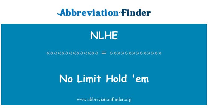 NLHE: No Limit Hold 'em