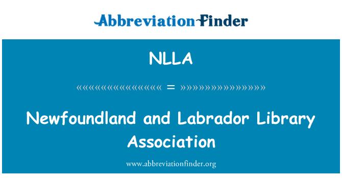 NLLA: 纽芬兰和拉布拉多省图书馆协会
