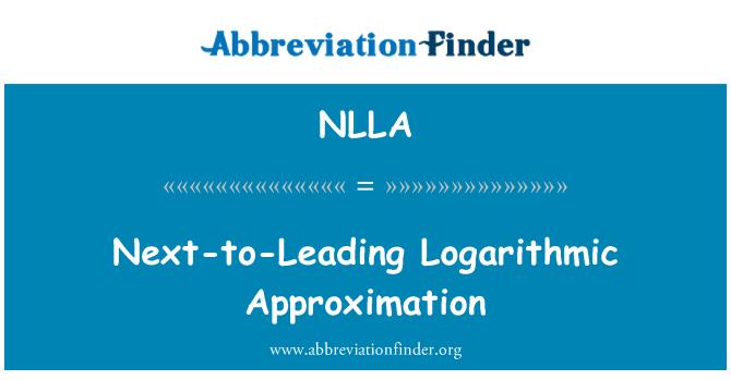 NLLA: 下一步领先对数近似